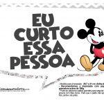 Plaquinhas divertidas Mickey Vintage 11