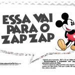 Plaquinhas divertidas Mickey Vintage 12