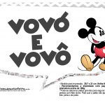 Plaquinhas divertidas Mickey Vintage 13