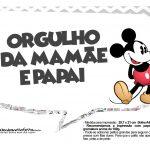Plaquinhas divertidas Mickey Vintage 21