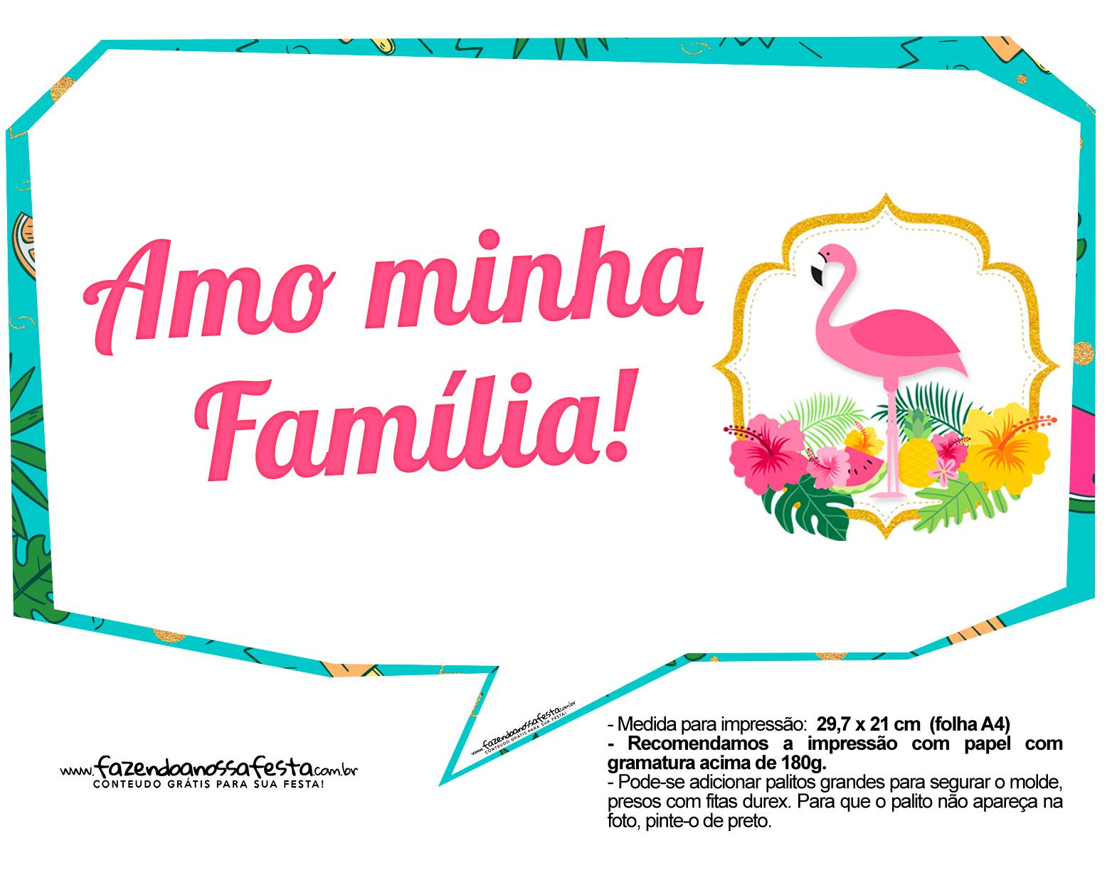 Plaquinhas para Festa Flamingo 10
