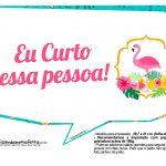 Plaquinhas para Festa Flamingo 12