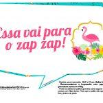 Plaquinhas para Festa Flamingo 13