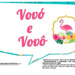 Plaquinhas para Festa Flamingo 14