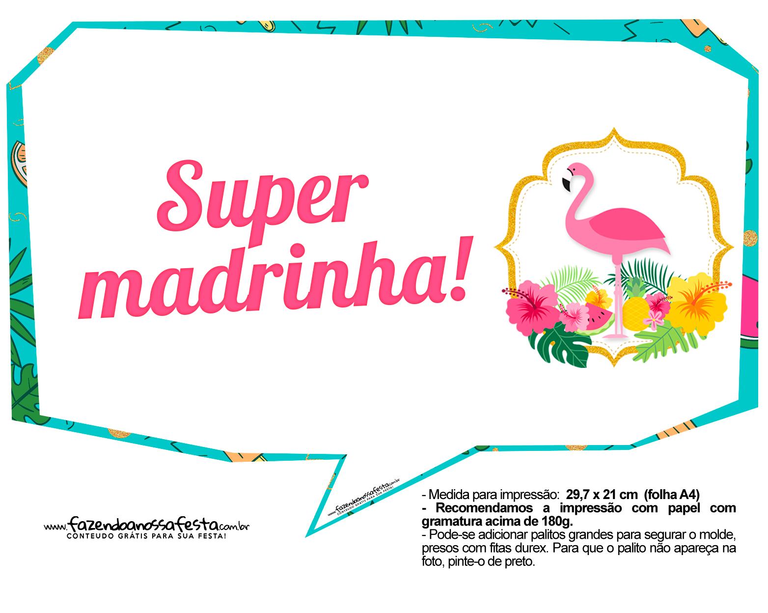 Plaquinhas para Festa Flamingo 15