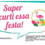 Plaquinhas para Festa Flamingo 3