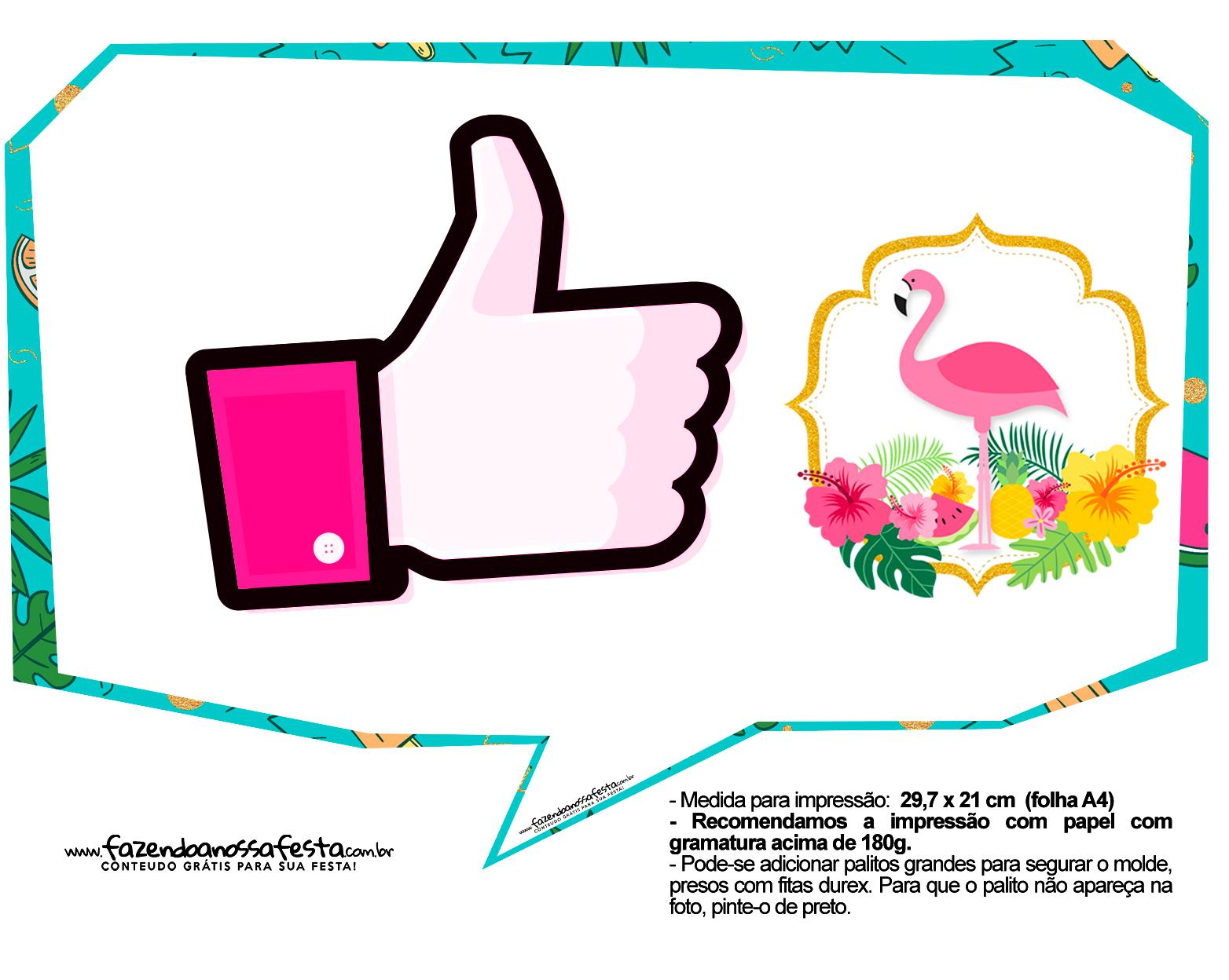 Plaquinhas para Festa Flamingo 4