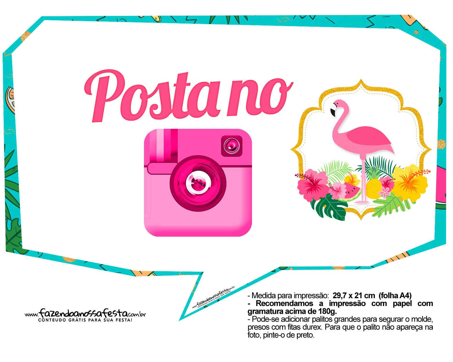 Plaquinhas para Festa Flamingo 5