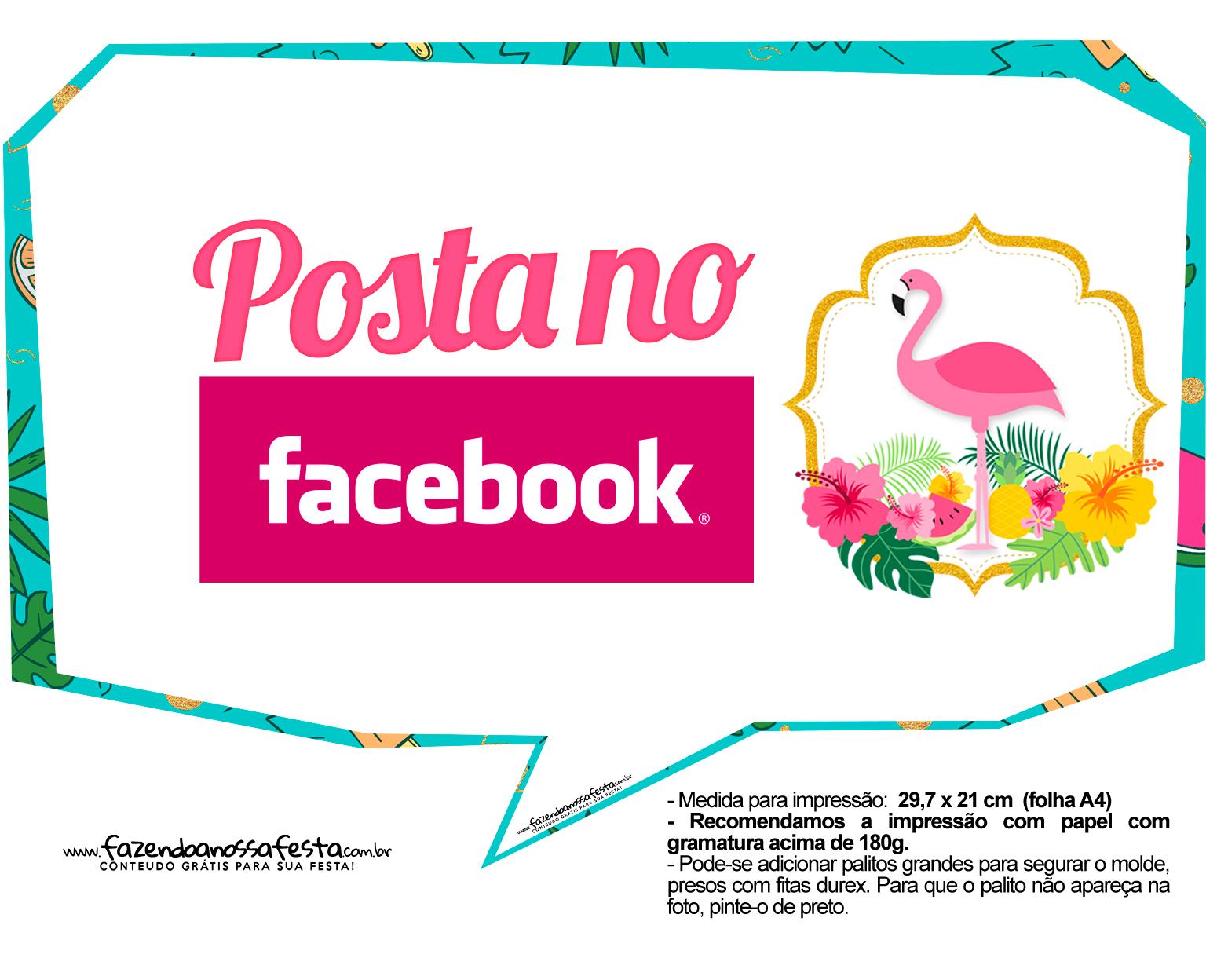Plaquinhas para Festa Flamingo 6