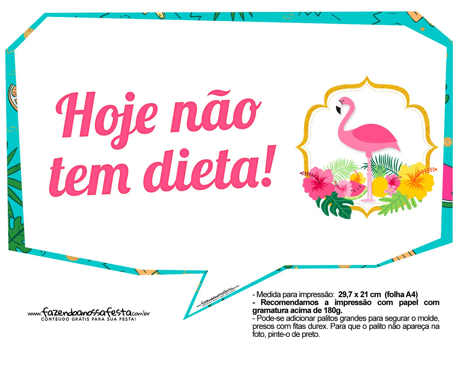 Plaquinhas para Festa Flamingo 8