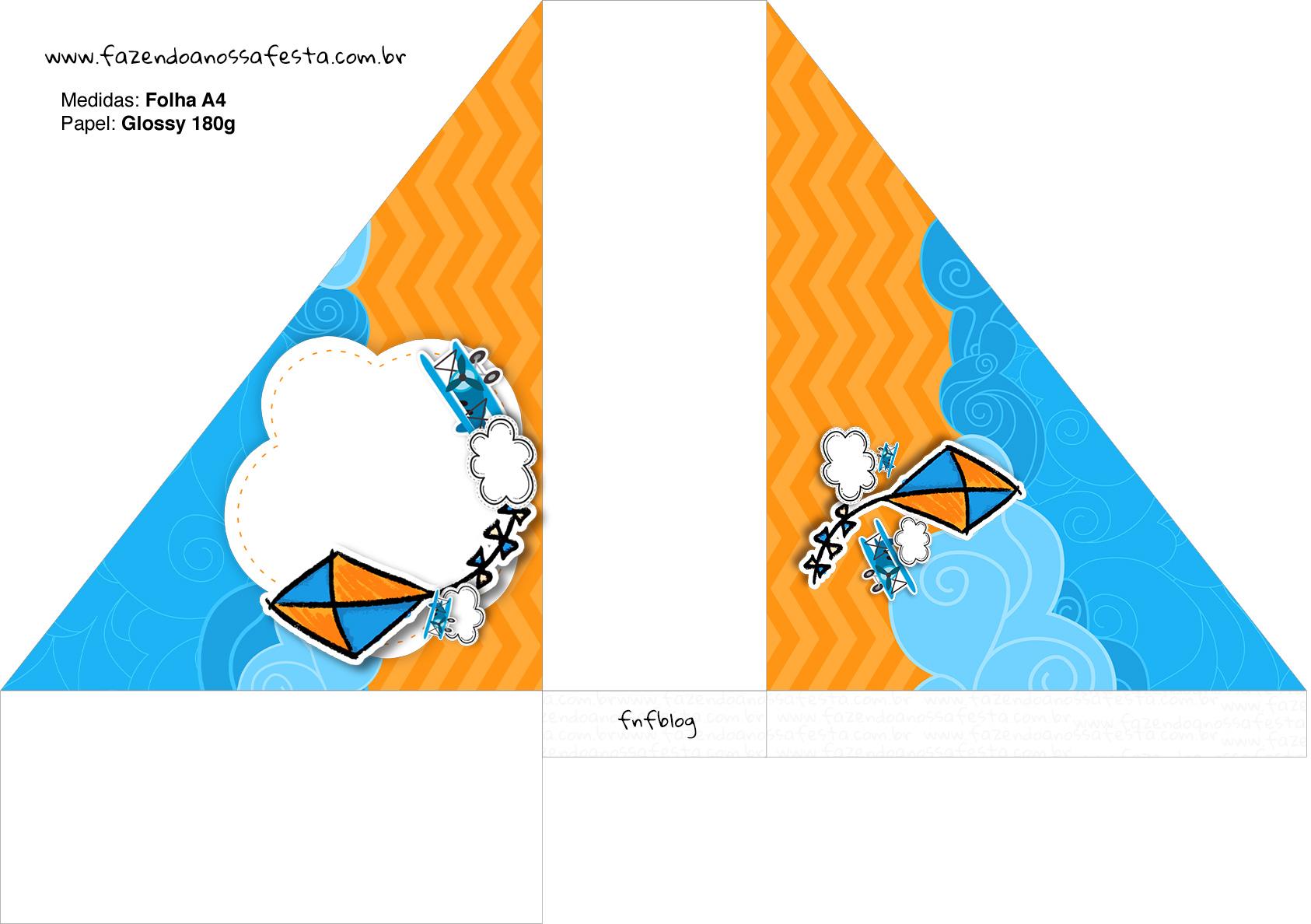 Porta Guardanapos Pipa Laranja e Azul