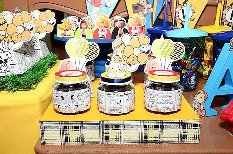 Pote de papinha personalizado Festa Snoopy do Vini