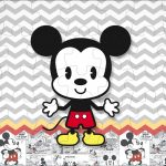 Quebra cabeça Mickey Baby Vintage Kit Festa