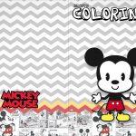 Revista Colorindo Mickey Baby Vintage Kit Festa