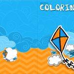 Revista Colorindo Pipa Laranja e Azul Kit Festa