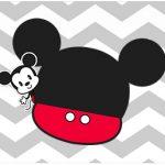 Rotulo Agua Mickey Baby Vintage