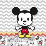 Rotulo Bolinha de Sabao Mickey Baby Vintage