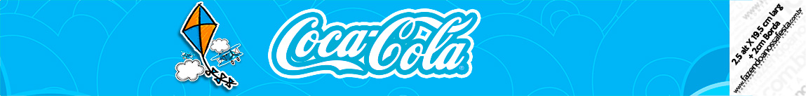 Rotulo Coca cola Pipa Laranja e Azul