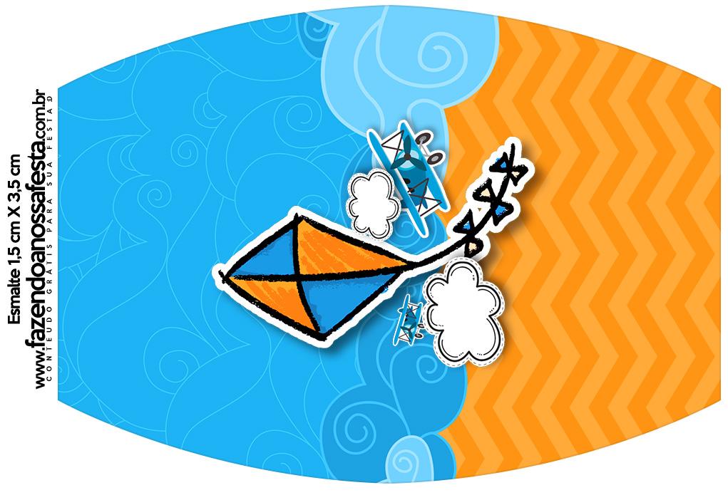 Rotulo Esmalte Pipa Laranja e Azul