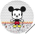 Rotulo Latinhas, Toppers e tubete Mickey Baby Vintage