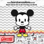 Rotulo Mini Baton Garoto Mickey Baby Vintage