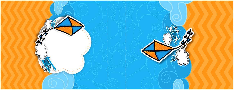 Rotulo Mini Talento Pipa Laranja e Azul