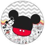 Rotulo Personalizado para latinha e toppers Mickey Baby Vintage