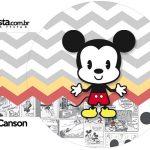 Rotulo Porta Guardanapos Mickey Baby Vintage