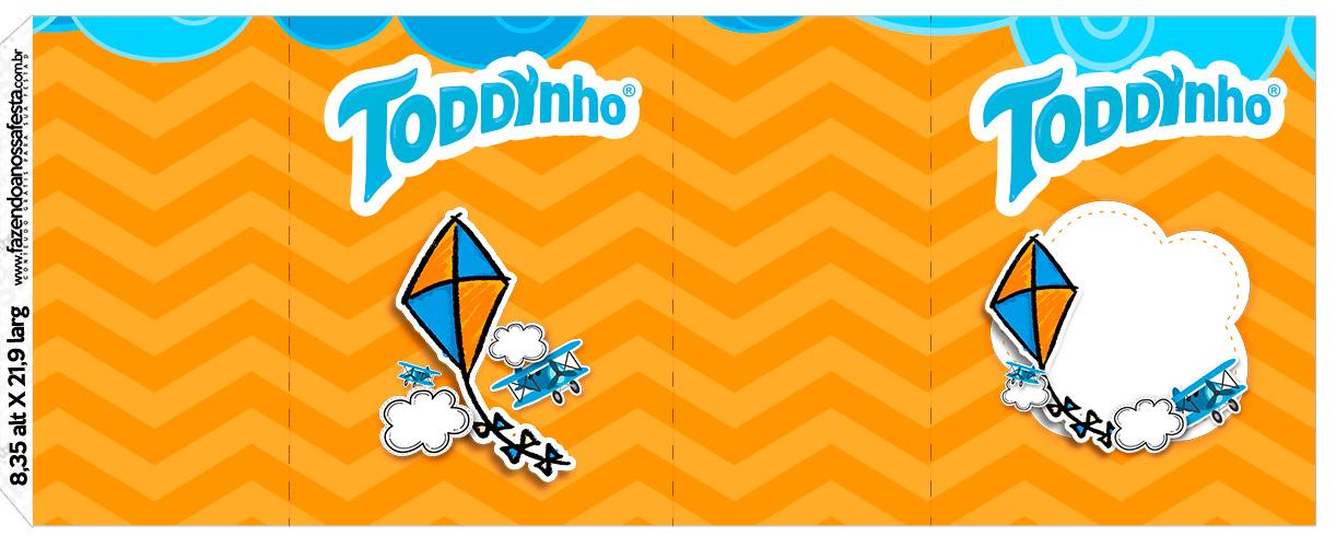 Rotulo Toddynho Pipa Laranja e Azul Kit Festa