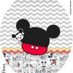 Rotulo Tubete Oval Mickey Baby Vintage Kit Festa