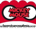 Saias Wrappers para Cupcakes 2 Mickey Baby Vintage
