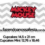 Saias Wrappers para Cupcakes Mickey Baby Vintage
