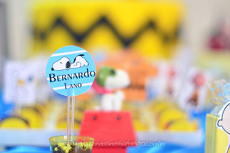 Toppers Festa Snoopy do Bernardo
