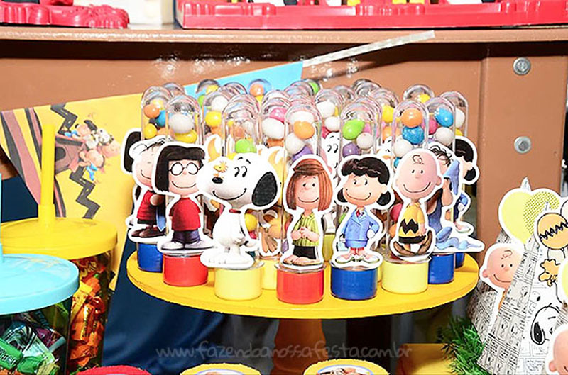 Tubetes Festa Infantil Snoopy do Vini