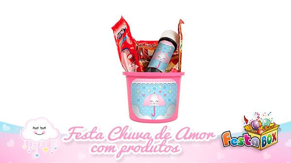 Festa Chuva de Amor FestaBox lembrancinha