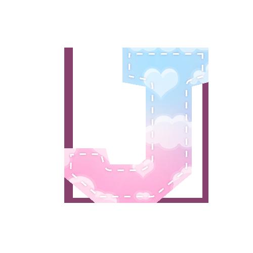 Alfabeto Chuva de Amor J