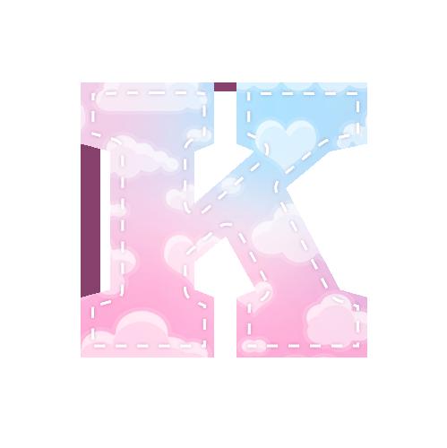 Alfabeto Chuva de Amor K
