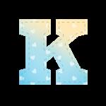 Alfabeto Chuva de Amor Menino K