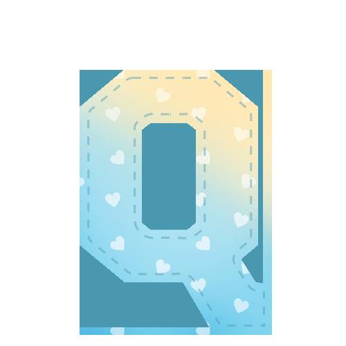 Alfabeto Festa Chuva de Amor Menino Q