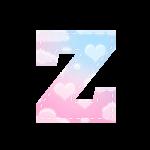 Alfabeto Festa Chuva de Amor Z