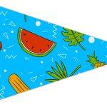 Bandeirinha Sanduiche 4 Natal Tropical