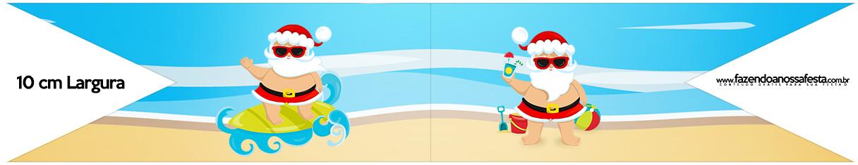 Bandeirinha para Sanduiche Natal Tropical