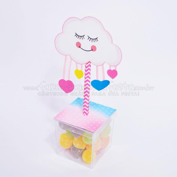 Caixa Acrilica personalizada Moldes Especiais Chuva de Amor