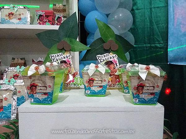 Caixa China in box Festa Moana Baby da Maria Eduarda