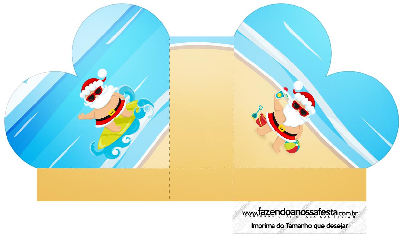 Caixa Coracao Natal Tropical