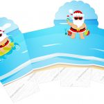 Caixa Cupcake Natal Tropical
