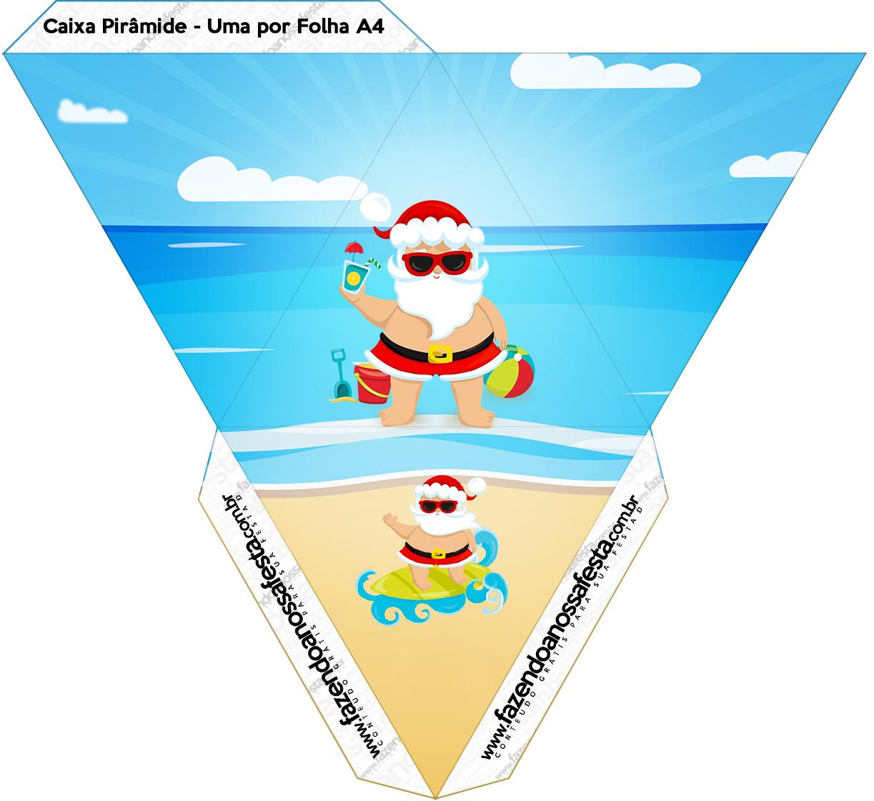Caixa Piramide Natal Tropical