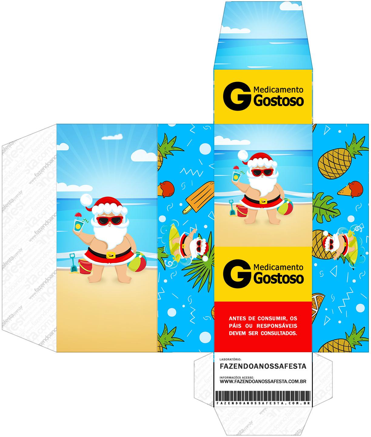 Caixa Remedio Natal Tropical