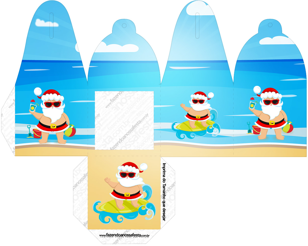 Caixa com Foto Natal Tropical