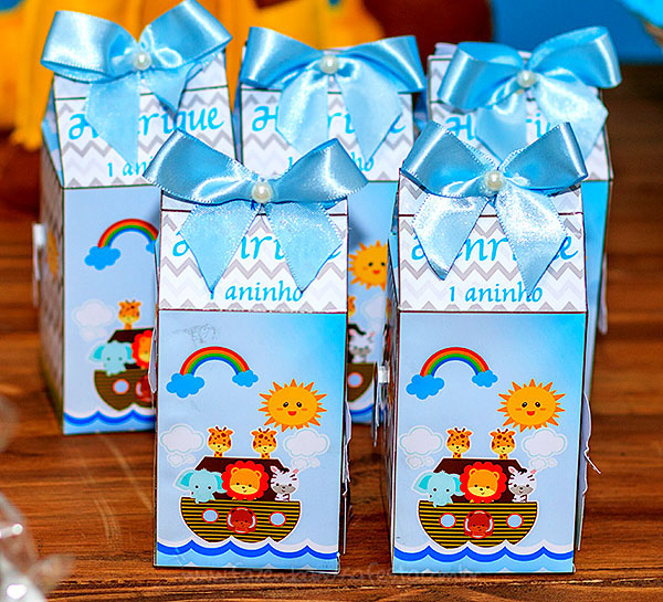 Caixa de leite Festa Infantil Arca de Noe do Henrique